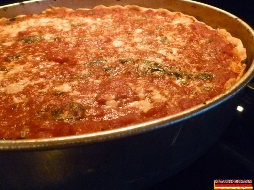 Pizza De Mayo 2012 - Spinach and Garlic