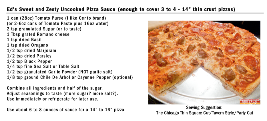 image of pizza sauce recipe - available on page 2 of the recipe PDF